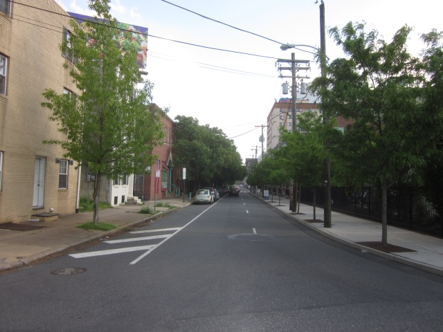 Looking south down 23rd Street