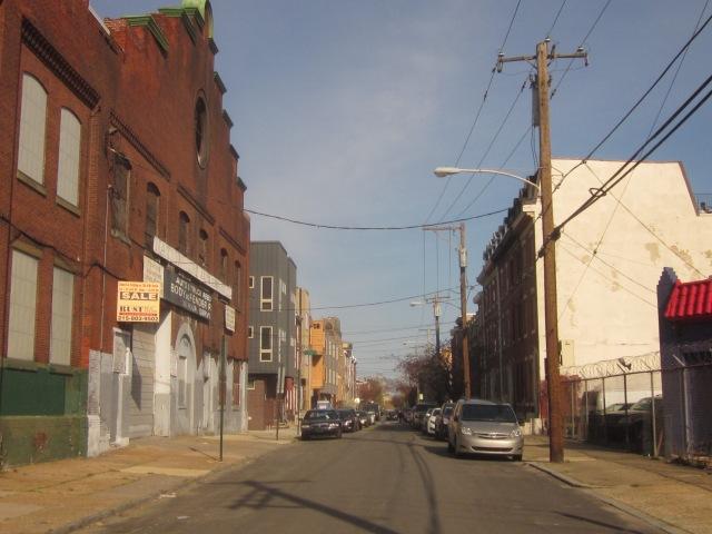 Looking east down Mt. Vernon Street, towards Northern Liberties