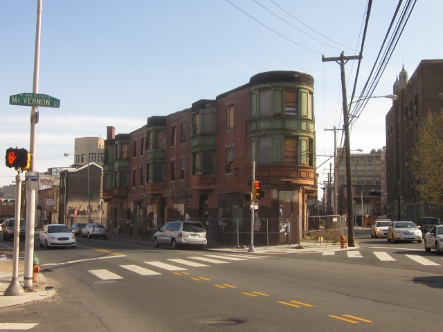Triangular apartment building, across the street from 1221 Mt. Vernon Street, will soon be renovated