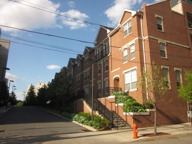 Townhouses along driveway, off of Race Street