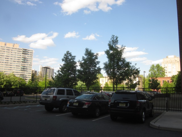 Site of Edgewater II, seen from the inside driveway