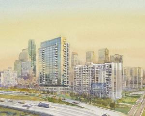 rendering of edgewater II from north