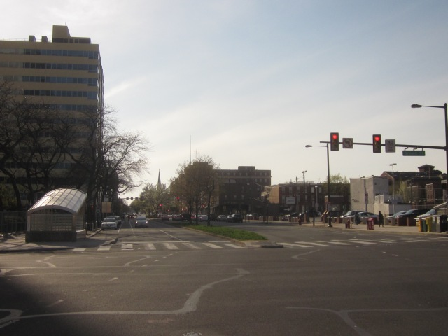 Looking west down Spring Garden Street, from Broad Street