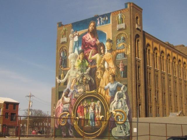 Famous mural on the Stevens School