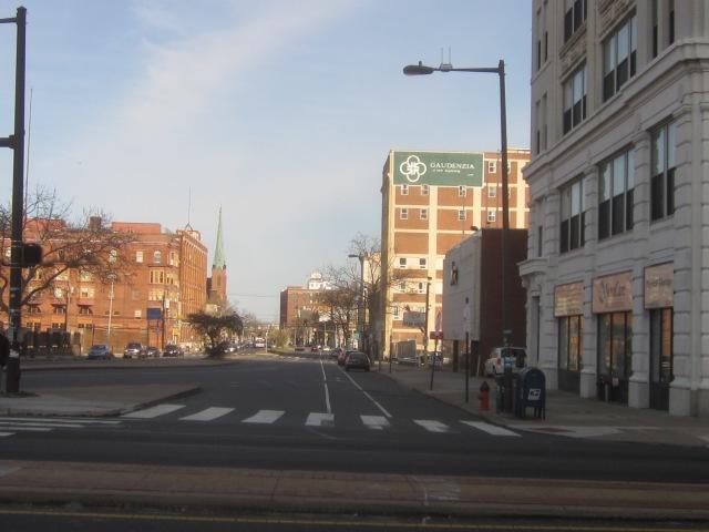 Looking east on Spring Garden Street, from Broad Street