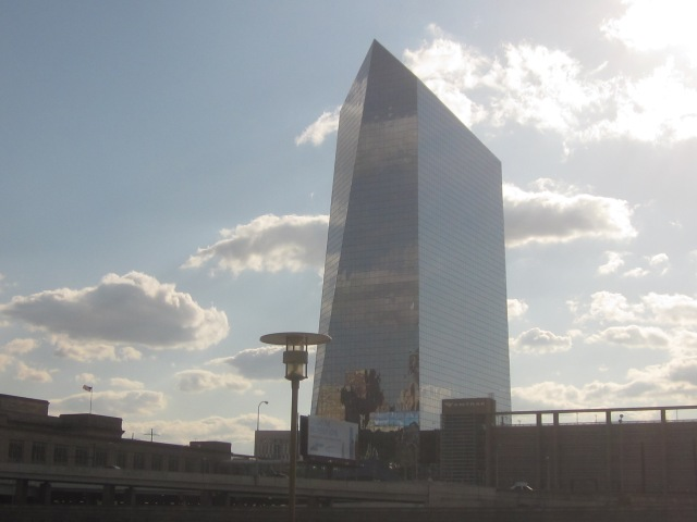 Cira Centre, from Schuylkill Banks, at Race Street