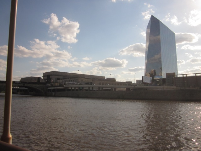 View of University City, from Schuylkill Banks in front of where Edgewater II will be