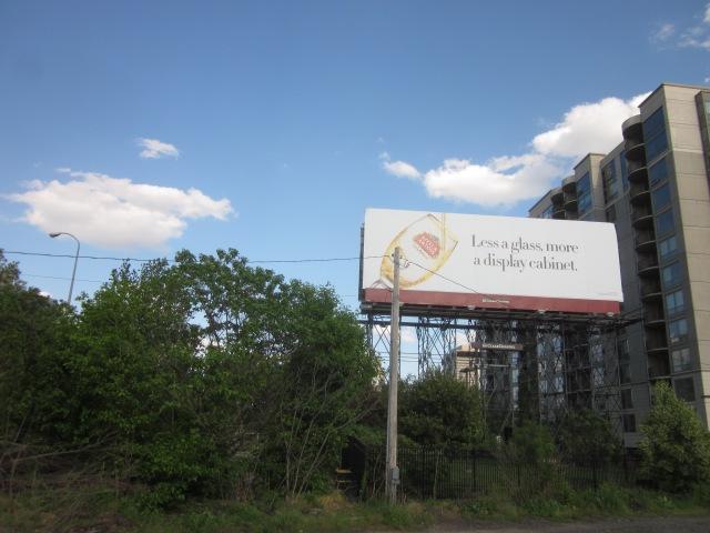 Looking back towards where Edgewater II will be, behind the billboard