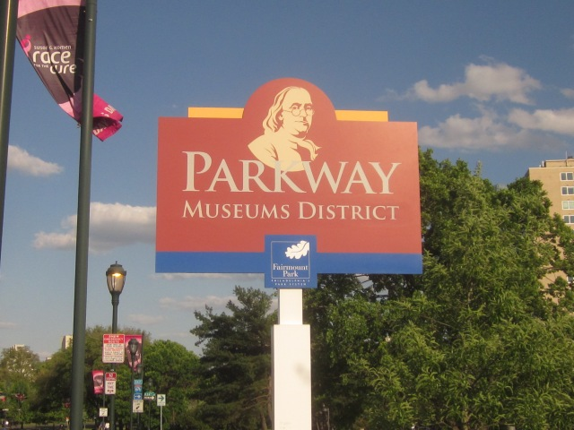Sign for the Parkway Museums District