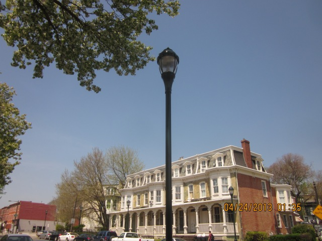 New pedestrian light on Lancaster Avenue