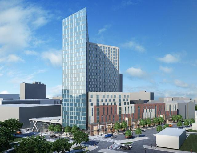 Rendering of Drexel University's Lancaster Square residence hall