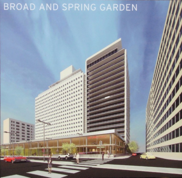 Rendering of Tower Place second phase from 15th & Spring Garden