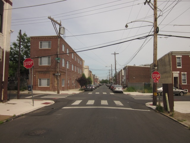 Looking east on Ellsworth Street, into Point Breeze
