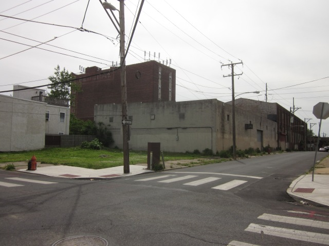Looking from 24th & Ellsworth Streets one can see the original building and the concrete addition and lot that will be used for parking