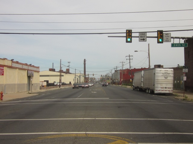 Looking east on Washington Avenue