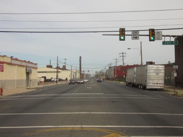 Looking east on Washington Avenue