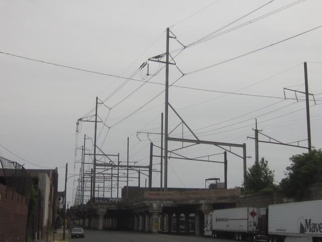 CSX train trestle, over 25th Street