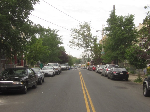 Looking north up 49th Street, towards the Market/Frankford El
