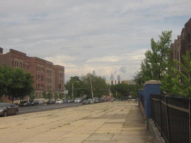 Looking east on Walnut Street, towards Center City