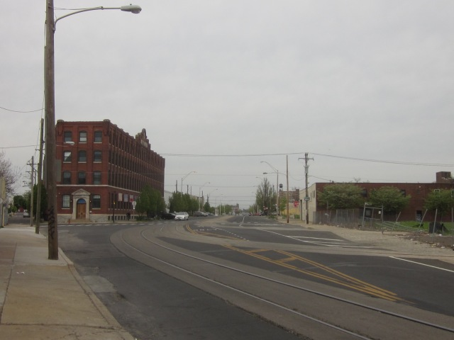 Looking further up the wider section of American Street
