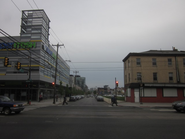 Looking south down Second Street into Northern Liberties and The Piazza