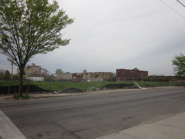 Looking at the Soko Lofts site from Second and Thompson Streets