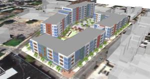 rendering of entire soko lofts development