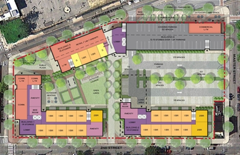 Schematic of Soko Lofts shows proposed uses