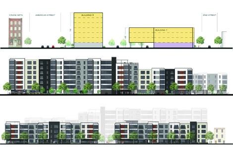 Elevations for Soko Lofts