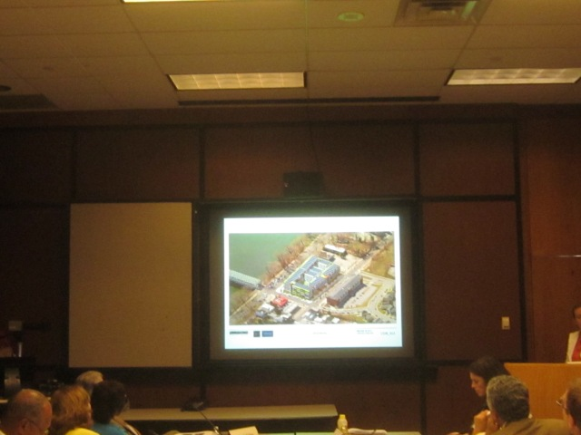 Aerial rendering of Ridge Flats, as seen at the recent Planning Commission Meeting