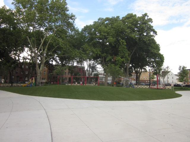 Play area from a distance, looking towards the northeast