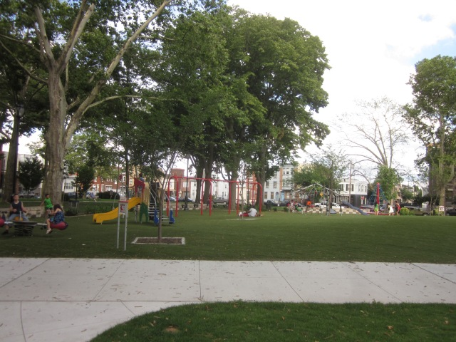 Play area in the park