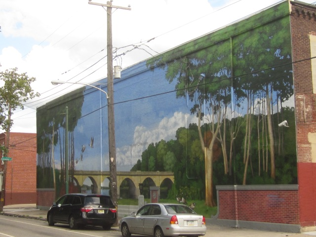 Mural on Morris Street, across the street from the park
