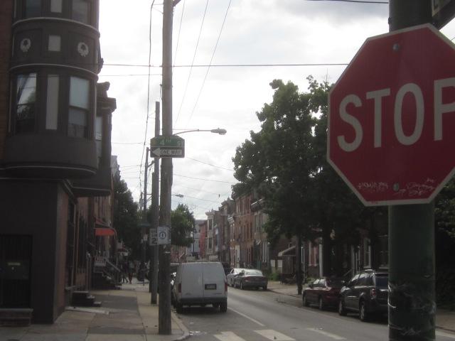 Looking west down Tasker Street