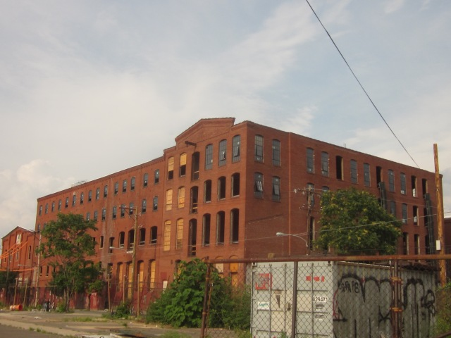 Oxford Mills, seen from Howard and Master Streets