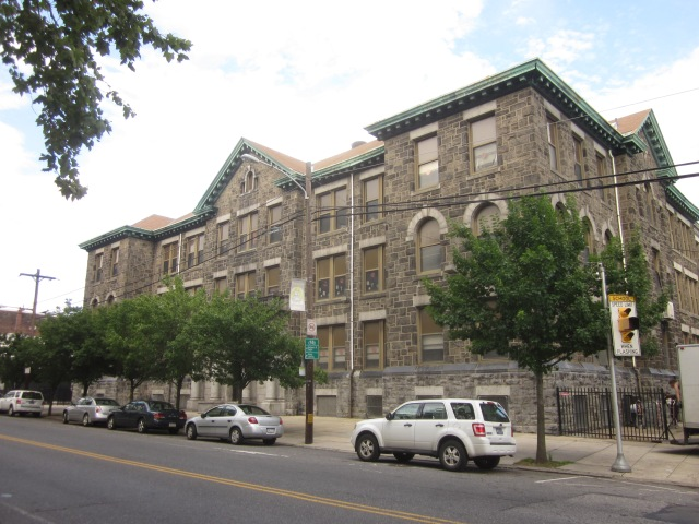 Vare Elementary School, across Moyamensing Avenue from Dickinson Square Park