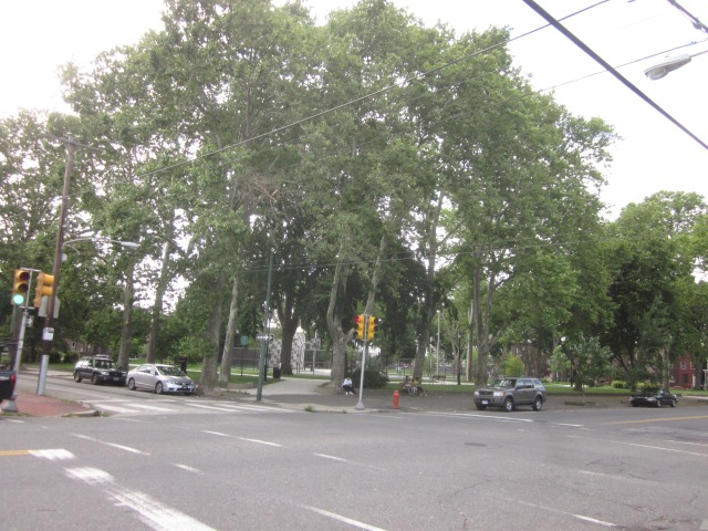Southeast corner of Dickinson Square Park, at Moyamensing Avenue and Morris Street
