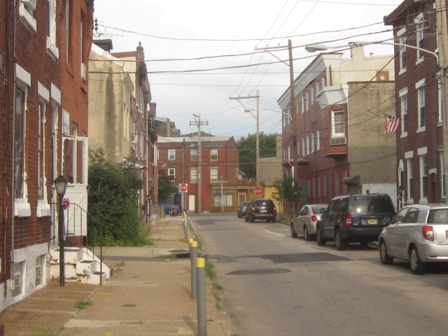 Looking down Oxford Street, towards Frankford Avenue