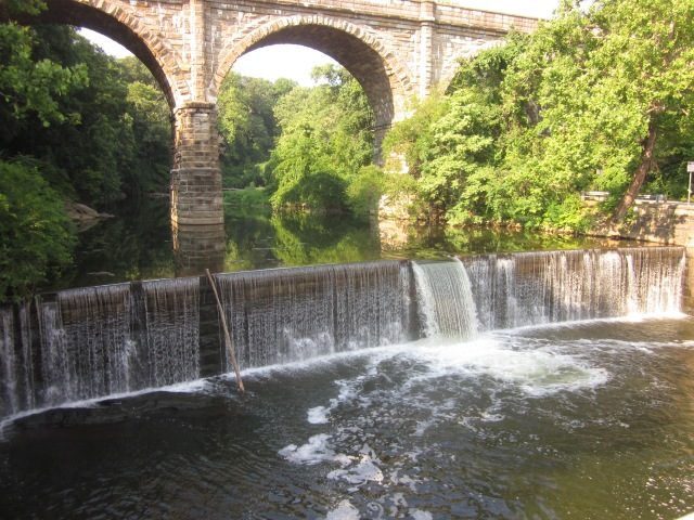 The beautiful Wissahickon Falls, seen from Ridge Avenue