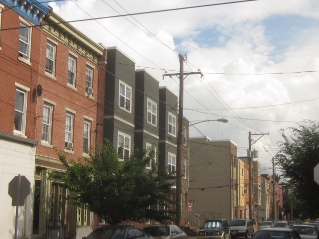 New construction on Fifth Street in Pennsport