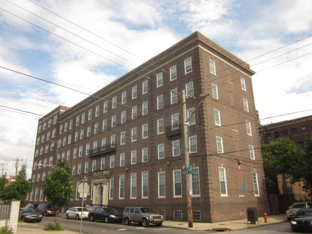 Part of the former Mt. Sinai Hospital has been renovated into apartments, a few blocks away from Dickinson Square Park