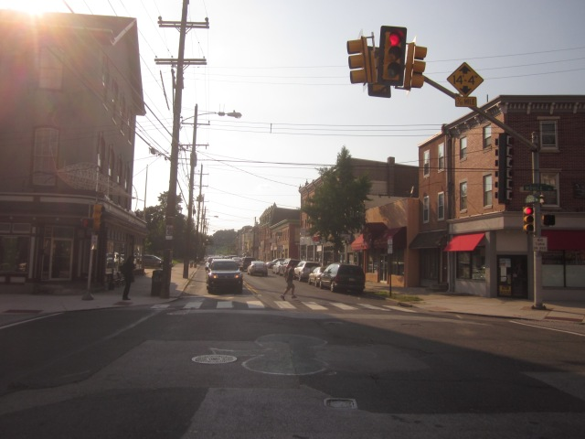 "Looking north on Ridge Avenue, Ridge Flats will be visible on the left and will extend the commercial retail district of Ridge Avenue (also known to locals as ""The Ridge"")"