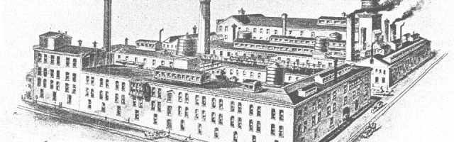 Historic drawing of Quaker City Dye Works