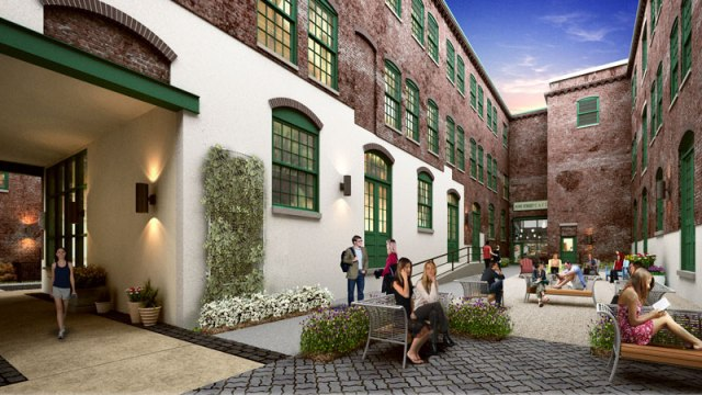 Another Oxford Mills courtyard rendering