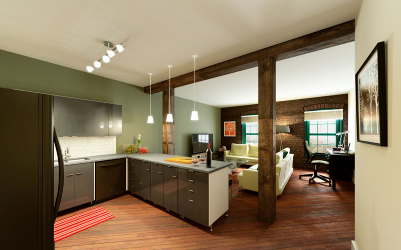 Rendering Of Oxford Mills Apartment