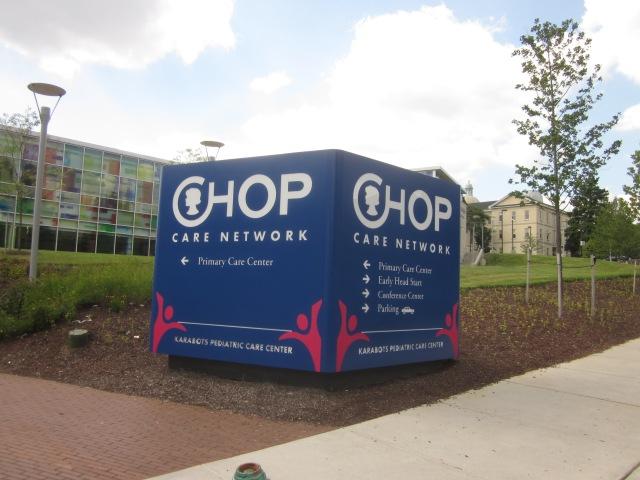 Sign outside Karabots Center