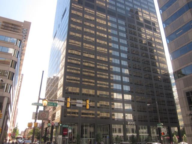 2000 Market Street office building, catercorner to 1919 Market