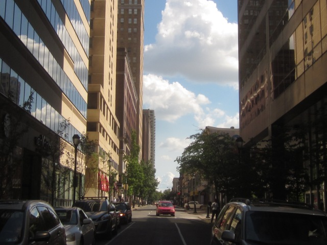 Looking south down 20th Street, towards Rittenhouse Square neighborhood