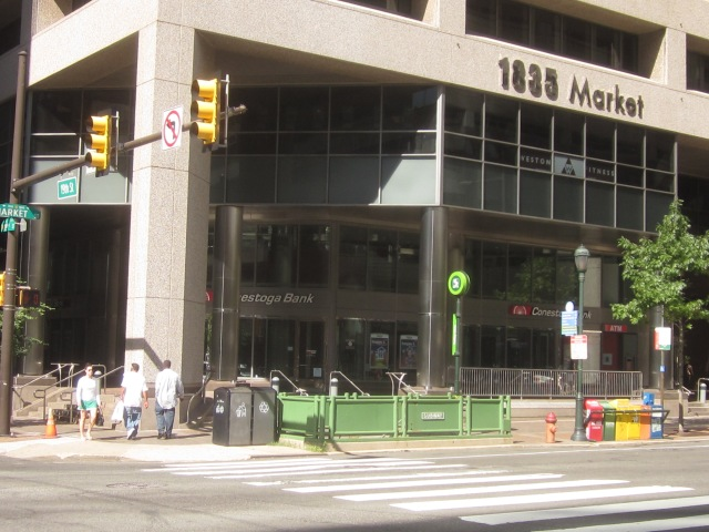Trolley Station @ 19th & Market Streets, connects to Market/Frankford line