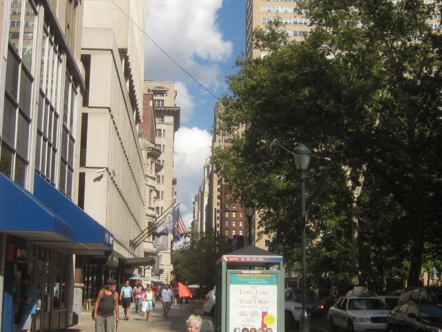 Busy and upscale Walnut Street shopping district, three blocks from 1919 Market Street